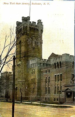 Vintage New York NY Rochester New York State Armory postcard