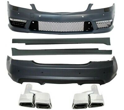 Mercedes W221 S63 S-class AMG Body Kit side skirts front rear Bumper + Exhaust
