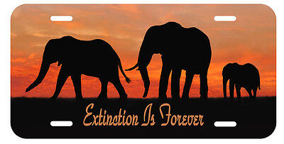 Elephant Auto License Plate Extinction Is Forever Personalize Gifts Jungle
