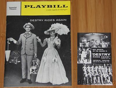 "Vintage 1959 ""Destry Rides Again"" Playbill/Postcard Set ANDY GRIFFITH"
