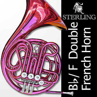 PINK Sterling Bb/F Double FRENCH HORN • Pro Quality • Brand New • With Case •