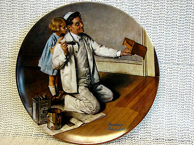KNOWLES NORMAN ROCKWELL CHINA COLLECTOR PLATE-7TH ISSUE-THE PAINTER-1983-9777Q