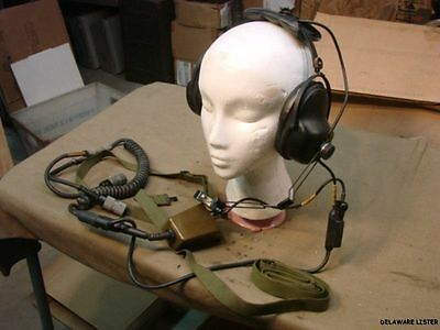 MILITARY TRUCK RADIO VIC-1 H-161 E/U NOS HEADSET AND CHEST SWITCH ASSEMBLY (NEW)