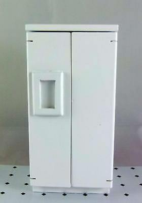 Melody Jane Dolls House Modern White Fridge Freezer Miniature Kitchen Furniture