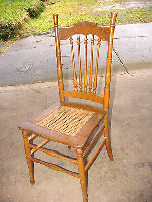 Antique OAK CHAIR w/CAINE SEAT Completly Refinished DESK, EXTRA,BEDROOM VANITY,