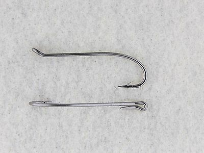 25 #2/0 Steelhead Salmon Fly Tying Hooks 2x Heavy Wire Black Nickel 7999 25 pack
