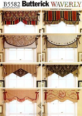 Butterick Sewing Pattern B5582 Reversible Valances Window Treatment curtain 5582