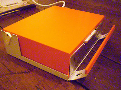 VINTAGE RETRO 1970 INFRA RED LAMP INC UV BOOTS MAKE TANG ORANGE MINT CONDITION!