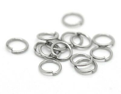 50 stainless steel 5mm x 0.6 jump rings  Won't rust or tarnish Melbourne seller