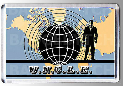 The Man From U.n.c.l.e. Large Fridge Magnet - Classic Uncle Cool!