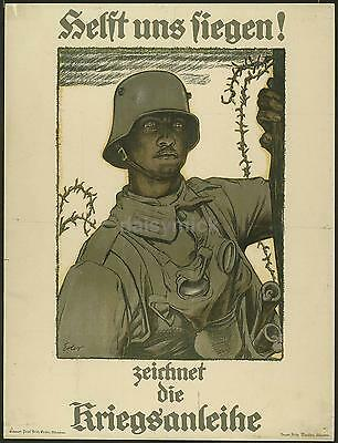 German Army Recruiting Poster 1917 5.5x4 inch Reprint, World War 1