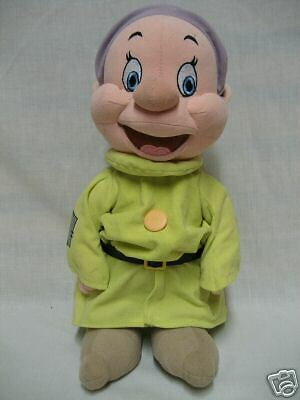 Disney Dwarf Dopey Snow White Plush Stuffed Doll Collectible Excellent