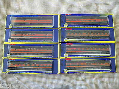 GREAT NORTHERN RAILWAY EMPIRE BUILDER SET OF 9 HO SCALE PASSENGER CARS BY AHM