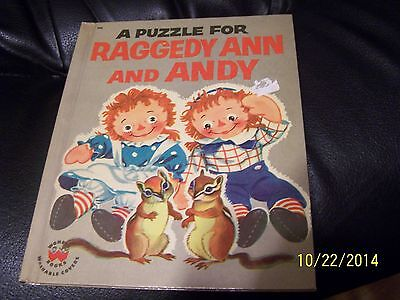 A puzzle for raggedy ann and andy book wonder book johnny gruelle 1957