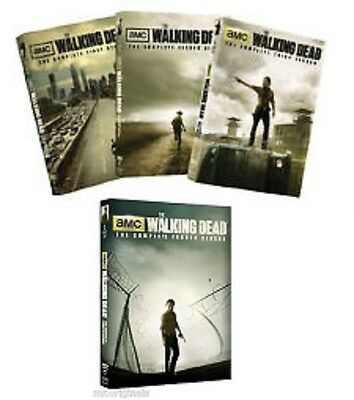 The Walking Dead Seasons 1-4 Complete Series on DVD Ships within 24 hours!