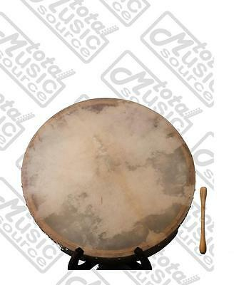 """Bodhran Natural 18"""" with Tipper, Celtic/Irish Style, Gig Bag Included, B18N2"""