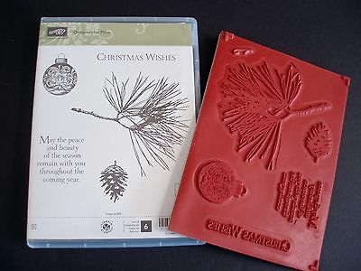 """NEW Stampin' Up """"Ornamental Pine"""" Cling Foam Stamp Set"""