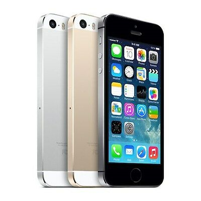 "Apple iPhone 5S 16GB 32GB 64GB  ""Factory Unlocked"" Black White Gold Smartphone"