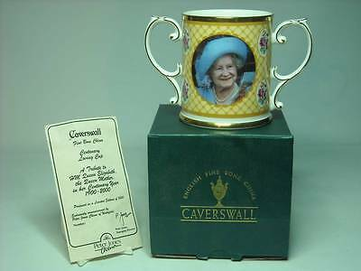 Caverswall QUEEN MOTHER CENTENARY Loving Cup 4 Photos Ltd Ed #382 of 1000