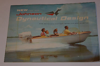 Vintage 1959 Johnson Sea-Horse Outboard Engine Catalog! Color Engine Cutaway!