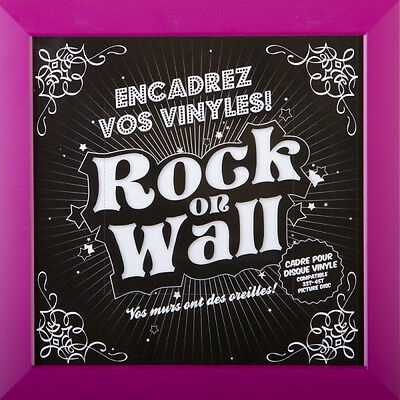Rock On Wall Vinyl Frame / Rahmen für Schallplatten (Violett / Purple) NEW+OVP!