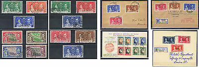 1937 Coronation Omnibus Blocks of 4, First Day Covers FDC Choice of Countries.