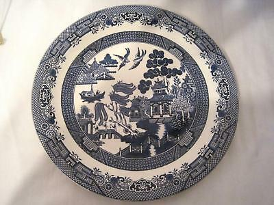 CHURCHILL ENGLAND WILLOW - BLUE ROUND CHOP  PLATE 12""