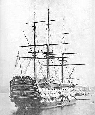 HMS Victory in Portsmouth 1884 British Navy Reproduction Photograph 6x5 inches