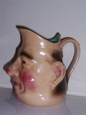 VINTAGE S.F. & Co ENGLAND HAND PAINTED PITCHER JUG PUCK S.F.& CO CROWN # 83