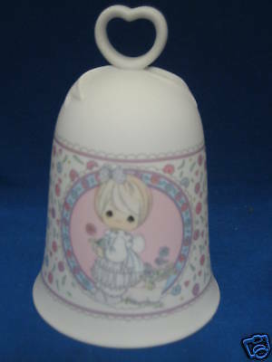 Precious Moments So Glad I Picked You As a Friend Friendship Porcelain Bell EUC