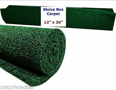 "Miners Moss 12"" x 36"" Gold Pan Panning Mining Sluice Box Matting Mat GREEN"