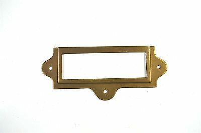 Antiqued Brass File Cabinet Label Holder Name Holder Plan Chest Map Drawer Lh2 • £2.99