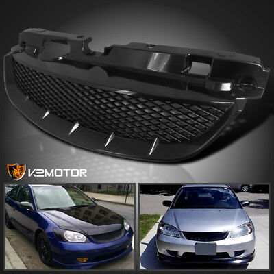 For 04-05 Honda Civic 2Dr Coupe 4Dr Sedan T-R Front Hood Grill Grille Assembly