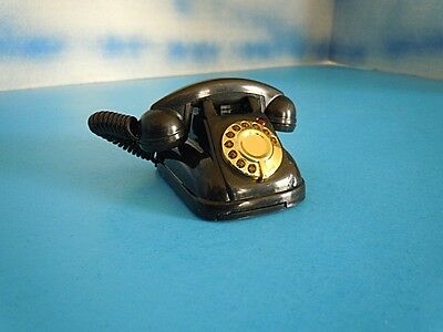 Wholesale Lot of (12) Black Retro Old Fashion Dial Telephone for (M) Doll