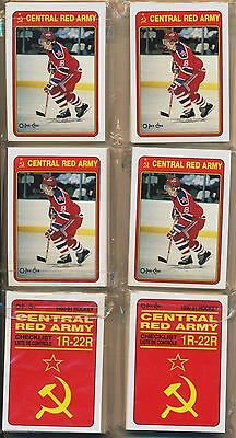 1990-91 OPC O-Pee-Chee Red Army Hockey Complete Set lot of 6 sets 23143