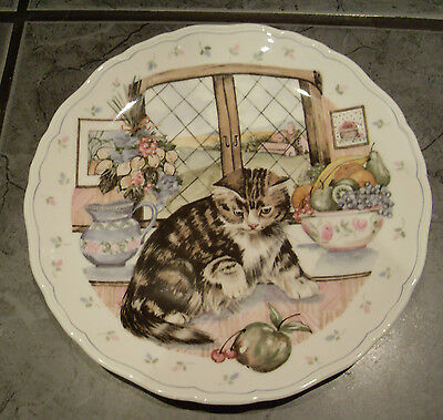 ROYAL ALBERT COUNTRY KITTEN COLLECTORS PLATE - NO.3 STRIPED TABBY C 1988
