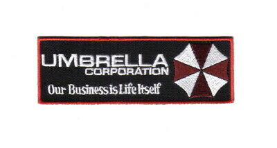 Resident Evil Umbrella Corporation Chest Logo with Motto Embroidered Patch, NEW