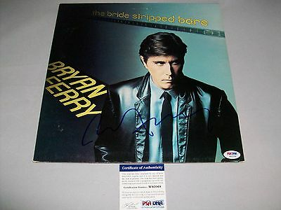 "BRYAN FERRY signed autographed ""THE BRIDE STRIPPED BARE"" LP RECORD PSA/DNA COA"