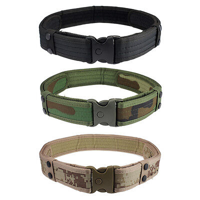 New Woodland Camo Waistband Tactical Hunting Outdoor Sports Field Belt GFY