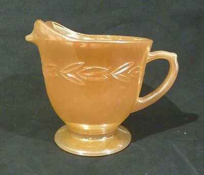 FIRE KING PEACH LUSTRE MILK JUG made in the USA