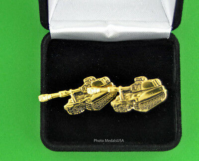 M109 M109A6 Paladin Self Propelled Howitzer Tank Cufflinks