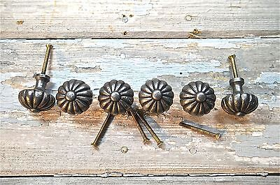 Set Of 6 Regency Style Cast Iron Door Drawer Knob Furniture Kitchen Handle Lp10