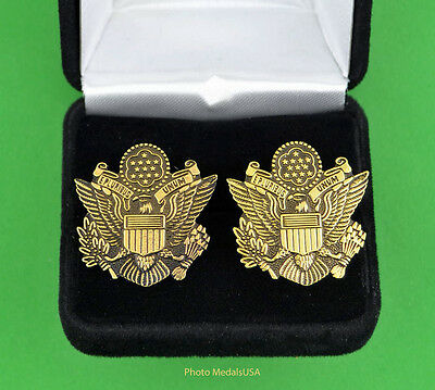 Great Seal of the United States Cuff Links in Presentation Gift Box -Army Emblem