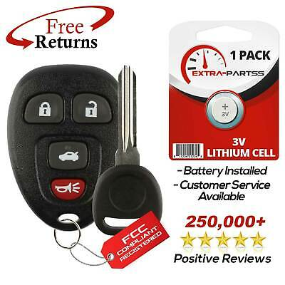 New Replacement Keyless Entry Remote Car Fob for 22733523 w/ Chip Plus Key