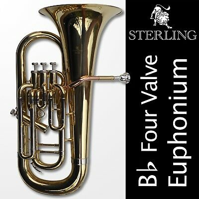 EUPHONIUM • STERLING Pro Quality •  Three Valves • With Case • Brand New •