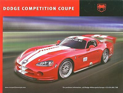 2006 Dodge Viper Competition Coupe Information Sheet