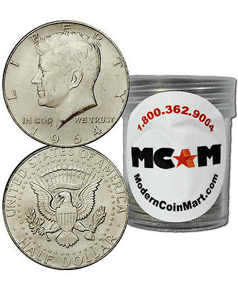 Roll of 20 - $10 Face Value 90% Silver 1964 Kennedy Half Dollars SKU32666