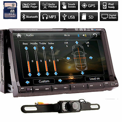 "Double 2 Din 7""Touch Car DVD Player GPS Bluetooth Radio Ipod TV SONY LENS+Camera"