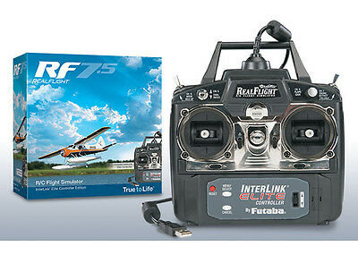 Great Planes RF Real Flight 7.5 w MD 2 Radio Flight Simulator / Sim Windows 7 8