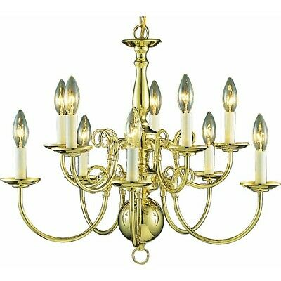 Volume Lighting 10-Light Polished Brass Chandelier, Polished Brass - V3570-2